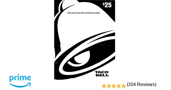 Amazon.com: Taco Bell Gift Card $25: Gift Cards