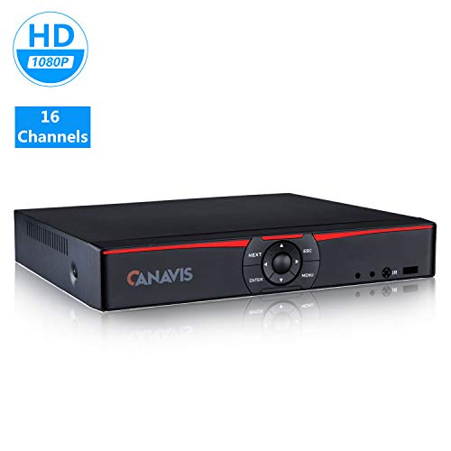 16 Channel 1080N Hybrid 5-in-1 Standalone DVR H.264 CCTV Security Surveillance DVR Record System Full 720P,QR Code Scan Quick Access, Smartphone& PC Easy Remote Access, NO Hard Disk