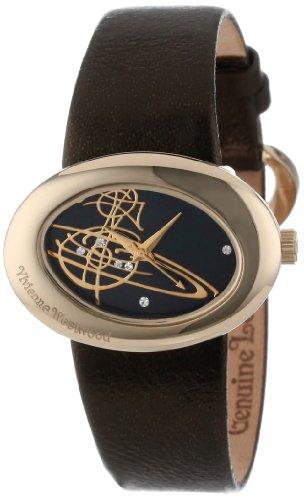Vivienne Westwood Women's VV014GD Ellipse Swiss Quartz Gold Tone Bezel Watch