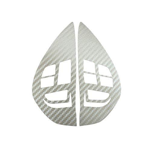 Audio Cruise Control Button Steering Wheel Switch Button Sticker Cover Trim for Mitsubishi ASX Lancer Outlander RVR Pajero Sport Silver ()