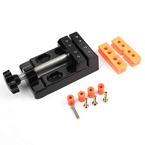 Z-COLOR Mini Flat Clamp Table Jaw Bench Clamp Drill Press Vice Opening Parallel Table Vise DIY Sculpture Craft Carving Tool Drill Press Vise Clamp