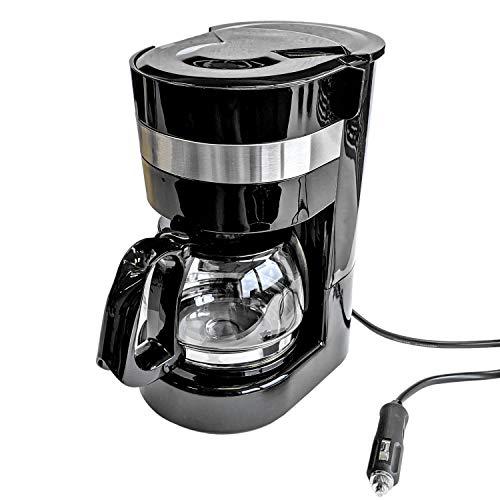 Cafetera de 24 V, 300 W, 0,65 L, jarra de cristal, 6 tazas, conexión para encendedor de cigarrillos – Máquina de café de…