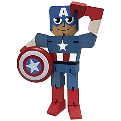 "PPWToys Captain America Wood Warriors 8"" Action Figure: Ppw Usa: Toys & Games"