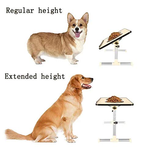 wonner Adjustable Pet Feeder Dining Table - Foldable pet Feeder Table can Adjust The Height of The Dining Table for Small, Medium and Large Dogs and Adjust The tilt Angle of The Desktop