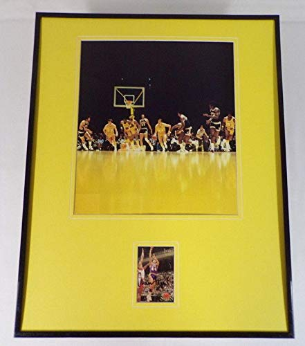 Jerry West Signed Picture Framed 16x20 Display WVU JSA Certified NBA Cut Signatures