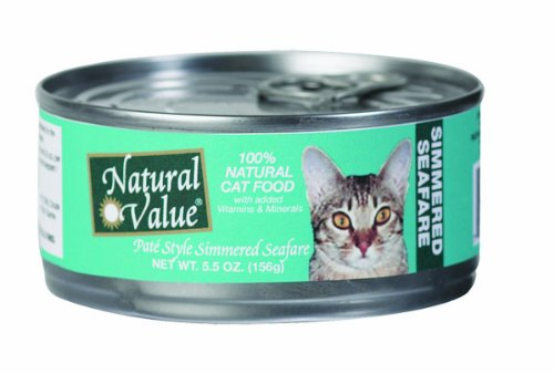 Natural Value Cat Food, Pate Style Simmered Seafare, 5.5-Ounce Cans (Pack of 24), My Pet Supplies