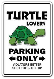 TURTLE LOVERS Parking Sticker gag novelty gift funny ocean aquarium animal sea pet