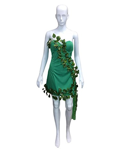 Poison Ivy Costume Online (Halloween Party Online Lethal Beauty Poison IVY Costume, Green Adult (L) HC-363)