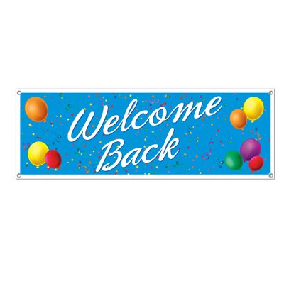 Beistle Welcome Back Sign Banner, 5-Feet by (Welcome Back Banner)