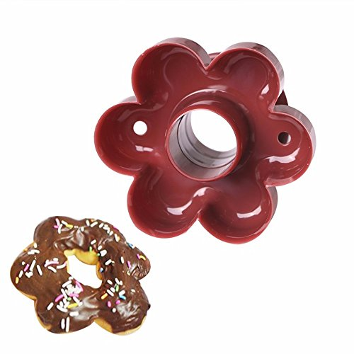 SuperStores Flower Donut Maker Cutter 3D Plastic Donuts Mold DIY Fondant Cake Bread Desserts Bakery Mould Kitchen Baking Tool (Yo Yo Maker Flower)