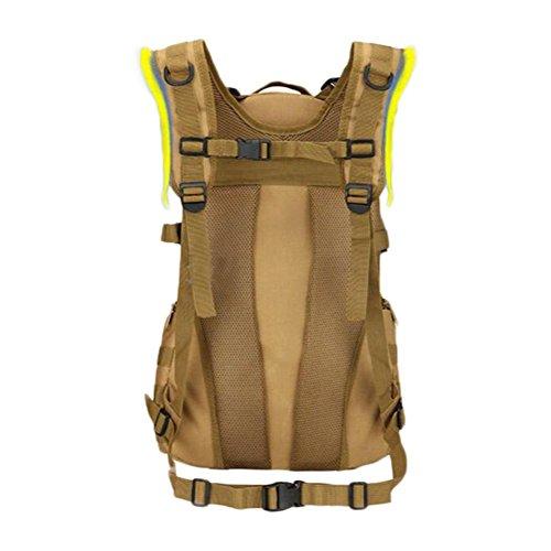 mochila 35L paquete de ataque multifuncional mochila táctica escalada senderis momorral al aire libre , black jungle digital
