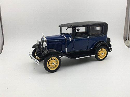 1931 Ford Model A Tudor Lombard Blue 1/18 Diecast Model Car by Sunstar 6104