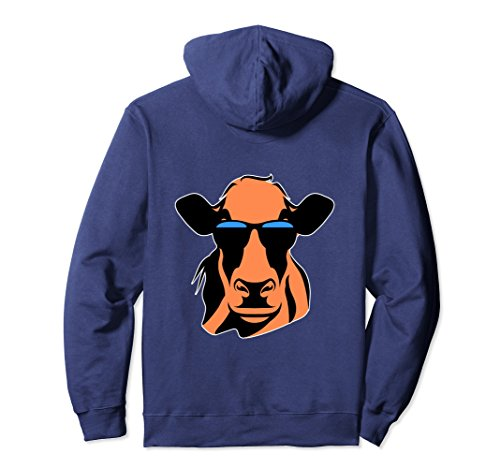 Unisex Funny Cow Sunglasses Hoodie Pet Lover Animal Saying Farm Medium - Cow Sunglasses