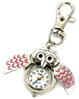 YouYouPifa Unisex's Alloy Strap Quartz Beetle Keychain Watches (Silever Strap / White Dial)