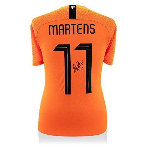 Icons  Lieke Martens Back Signed Holland 2018 Home Shirt With Fan Style Numbers