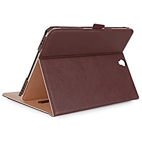 ProCase Samsung Galaxy Tab S3 9.7 Case, Stand Folio Case Cover for Galaxy Tab S3 Tablet ( 9.7 Inch, SM-T820 T825), with Multiple Viewing Angles, Document Card Pocket - Brown