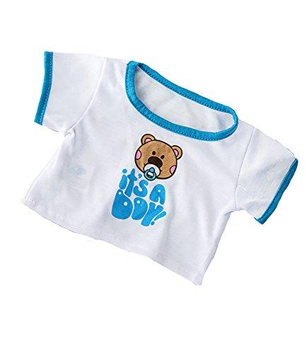 It's A Boy T-Shirt Teddy Bear Clothes Fits Most 14