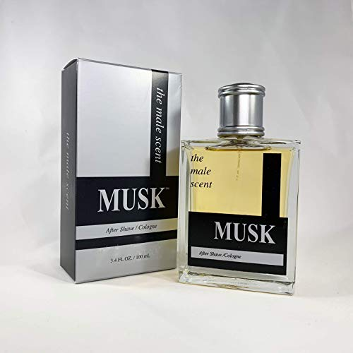 (MUSK Cologne Spray - Woody and Earthy After Shave - Bold Masculine Fragrance - Citrus, Mandarin, Lemon, Grapefruit, Lily of the Valley, Wood & Musk - 3.4)