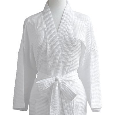 e684c474fd Luxor Linens Waffle Robe - 100% Egyptian Cotton - Unisex One Size Fits Most  - Waffle Weave