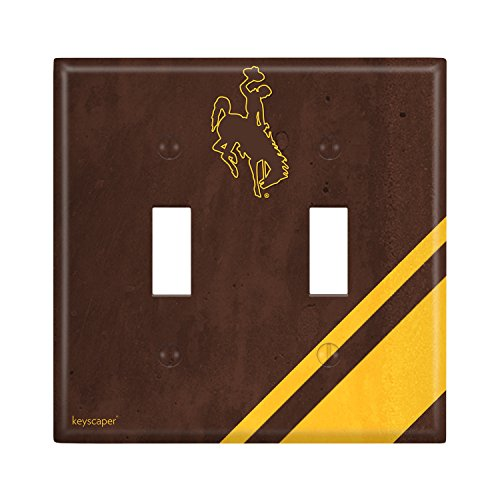 Wyoming Cowboys Double Toggle Light Switch Cover NCAA