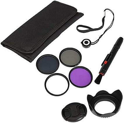 مرشحات الكاميرا - مجموعة الكاميرا UV FLD CPL ND4 58مم مجموعة فلتر مستقطب دائري حامي + غطاء عدسة لـ Canon for Sony AHPK-4000416049575-001