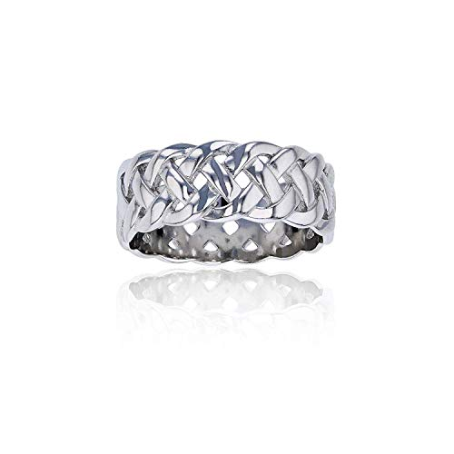 Sterling Silver Celtic Eternity Knot Ring For Women and Girls | Eternity Knot Rings | Hypoallergenic Rings | 925 Sterling Silver Rings for Women and Girls, Size 8