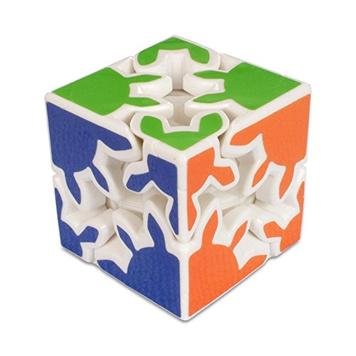 Children Education Toy Gear 2x2 Dodecahedr Cube White Magic Cube Puzzle Toy Gift(60mm) - Gear Shift Puzzle Cube