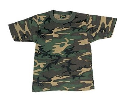 Camo Woodland T-shirt Army Cotton (Rothco Kids T-Shirt, Woodland Camo, Large)
