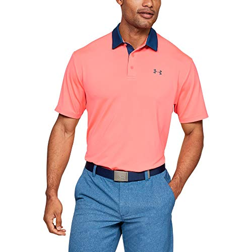 Under Armour Men's Playoff Golf Polo 2.0, Blitz Red/Pitch Gray, Large ()