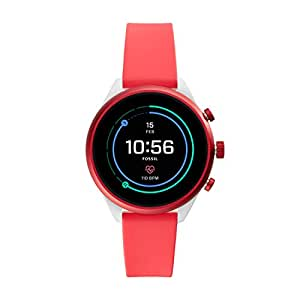 Fossil Women's Digital Wrist Watch smart Display and Silicone Strap, FTW6027