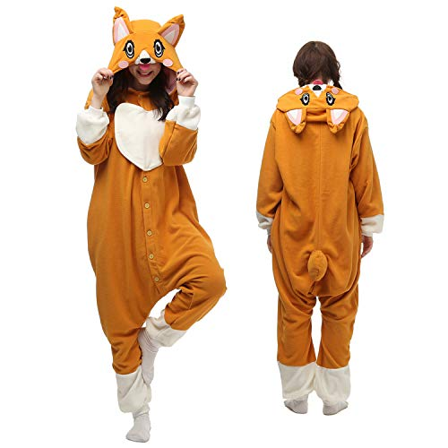 Adult Onesie Womwn/Men Animal Pajamas Dog Costume Cosplay