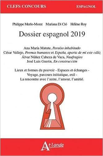 Dossier CAPES espagnol 2019