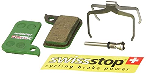 SwissStop Organic Compound Mountain Bicycle Disc Brake Pads - Pair (Disc 32 Pads - SRAM Hydro R for SRAM Road Disc)