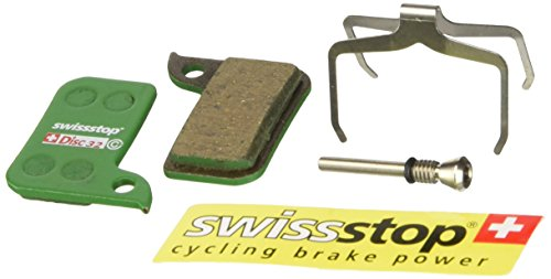 Swiss Stop Organic Compound Mountain Bicycle Disc Brake Pads - Pair (Disc 32 Pads - SRAM Hydro R for SRAM Road Disc)