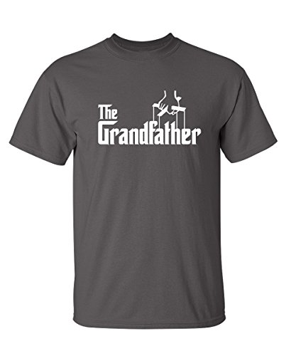 Feelin Good Tees The Grandfather Gift for Dad Father's Day Mens Funny T Shirt L Charcoal