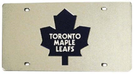 NHL Toronto Maple Leafs Laser Cut Auto Tag, - Toronto Station Watch