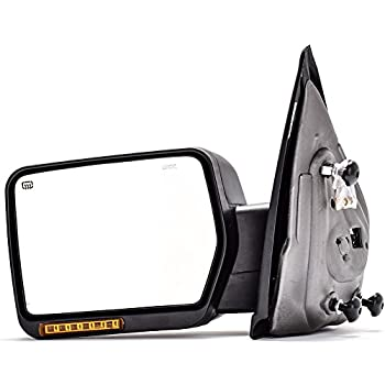 Dedc Left Driver Side Power Heated With Front Turn Signal Light Towing Mirrors For   Ford F Series