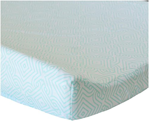 Oliver B Stems Changing Pad Cover - Sea Green