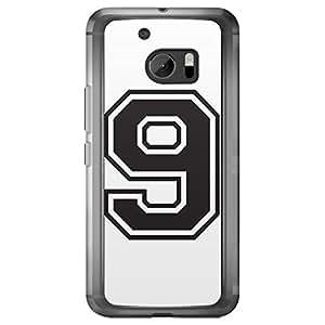 Loud Universe HTC M10 Number 9 Printed Transparent Edge Case - White
