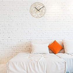 Wall Clock Modern Spiral Hanging Minimalist Wooden Wall Clock Silent Savanna Geometric Clock Watch Wall Art Home Decor Gift Unique Design Living Room Bedroom Children'S Room Office Hotel Home Decor