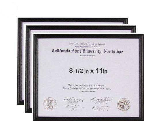 Amazoncom 85x11 Basic Black Certificate Or License Frame Wood