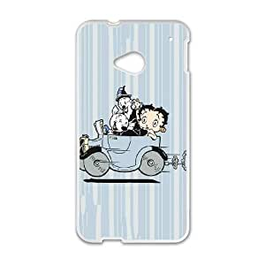HTC One M7 Cell Phone Case White_Betty Boop Taking A Drive FY1504494
