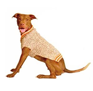 Chilly Dog Tan Camp Dog Sweater, XX-Large