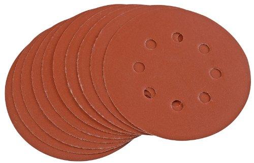 Draper 44344 125 mm 400-Grit Hook-and-Loop Sanding Discs (Pack of 10)