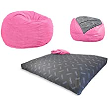 CordaRoy's - Pink Corduroy Convertible Bean Bag Chair - Youth