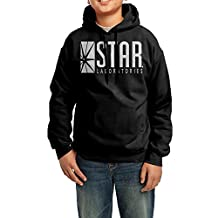 CIA DRON Official Flash TV STAR Laboratories Youth's Exclusive Hooded Sweatshirt Black