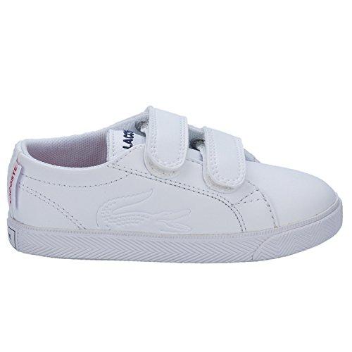 Lacoste-Scarpe da ginnastica per ragazzi Marcel 116, colore: bianco/rosso
