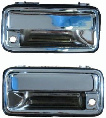 Right Passenger Chrome Metal Outside Door Handles Pair Front Left Driver