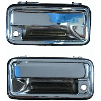 1995 1998 Chrome Outside Drivers And Passengers Side Pair For Chevy Silverado Ck