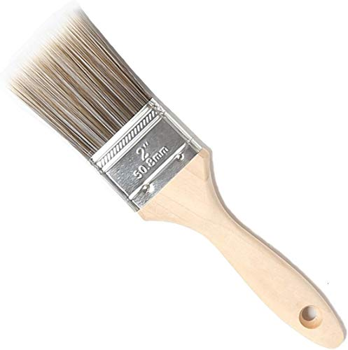 Flat Brush Set, Wooden Handle, Painter's Brush Set, Paint Brush, Premium Varnish Brush for Oil Painting and Painting, brown